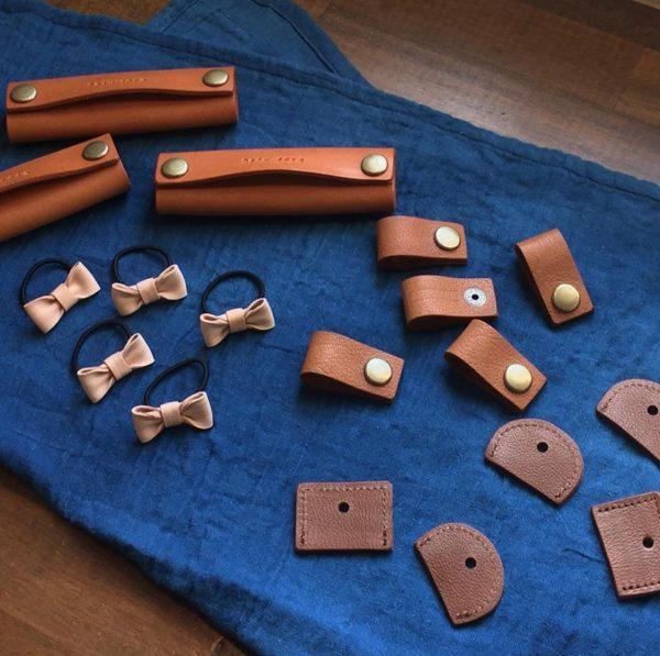 odd(オド)さんに、haru soraオリジナルの革小物を作っていただきました