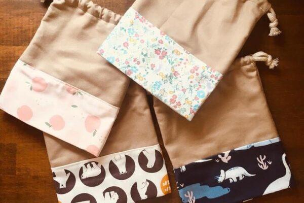 Re・bornさんの新作、巾着袋のご紹介✨